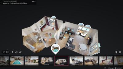 Schafft den vollen Überblick: Eine Virtuelle Besichtigung mit maßstabsgetreuen 3D-Modell