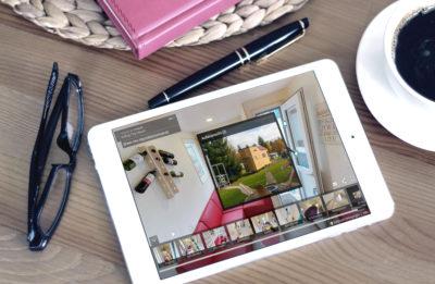 Virtuelle Immobilienbesichtung am Tablet