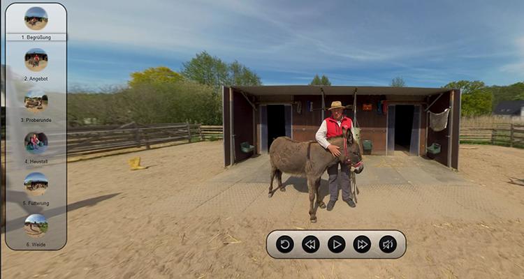 Interaktives 360°-Video Eselei Bergedorf