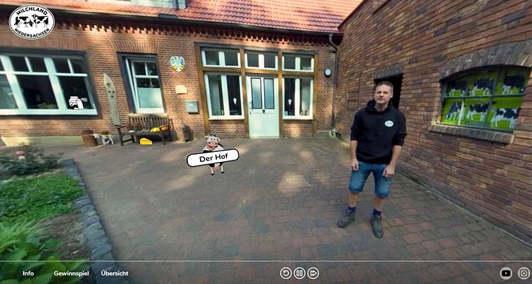 Interaktives 360°-Video Meet-Muh
