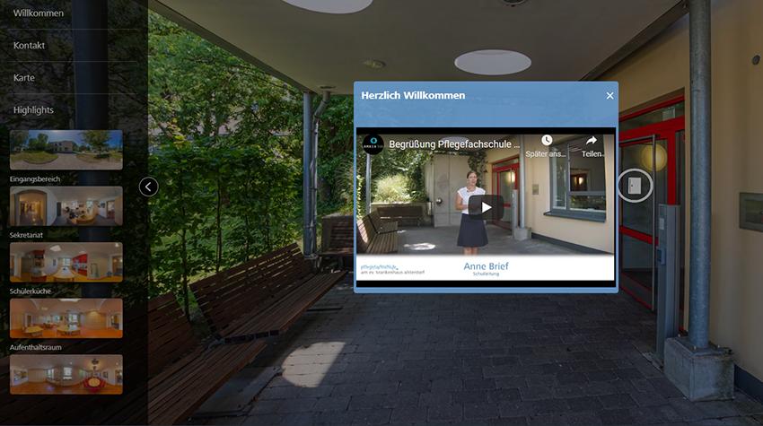 Virtueller Rundgang: Pflegefachschule Alsterdorf