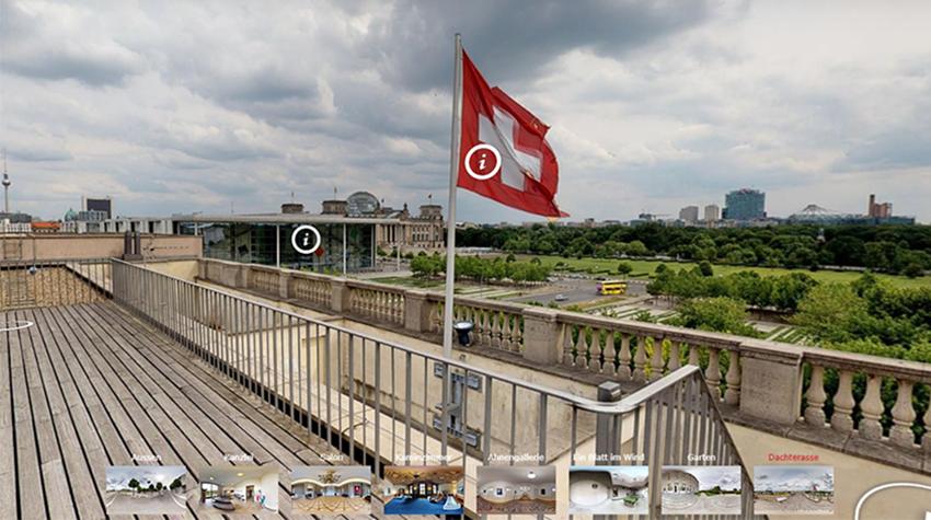 360-Grad-Tour: Schweizer Botschaft