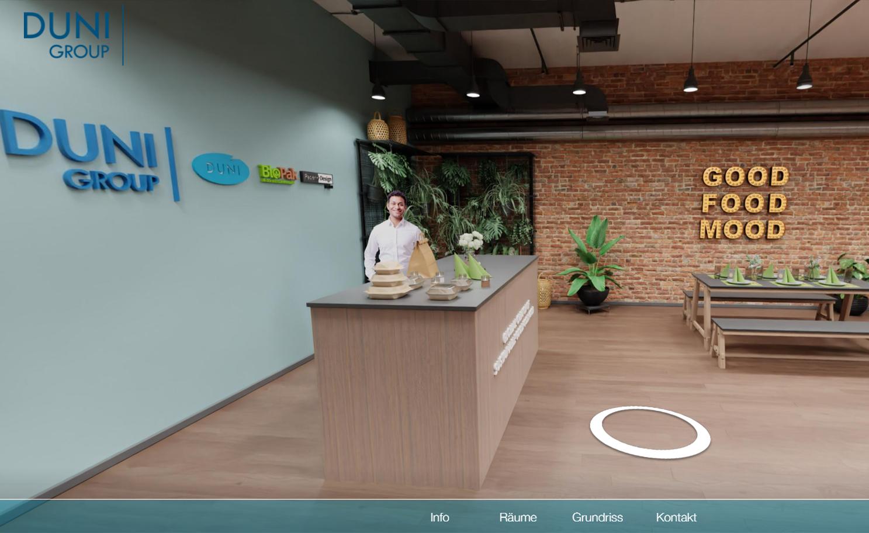 3D-Showroom: Duni