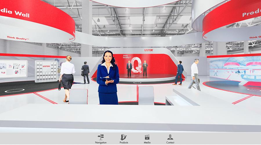 Digitaler Messestand: Uster Technologies